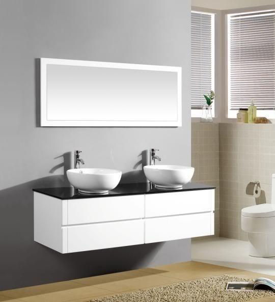 Arredo Bagno Topazio2 150 bianco lavabo d\'appoggio OFFERTA ...