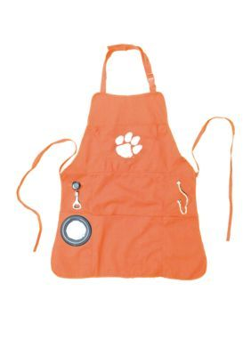 Team Sport America Men's Clemson University Mens Apron - Orange - One Size