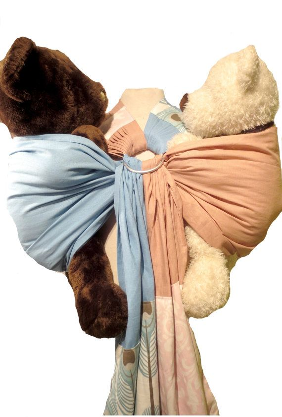 The TwinSling is exclusive to Blossom sling . A ring sling is designed for twins. There are two slings attached to the same pair of rings. This baby carrier comfortably reproducts a Jasmine's tandem hip carry while being way more easy and efficient than two separate ring slings.