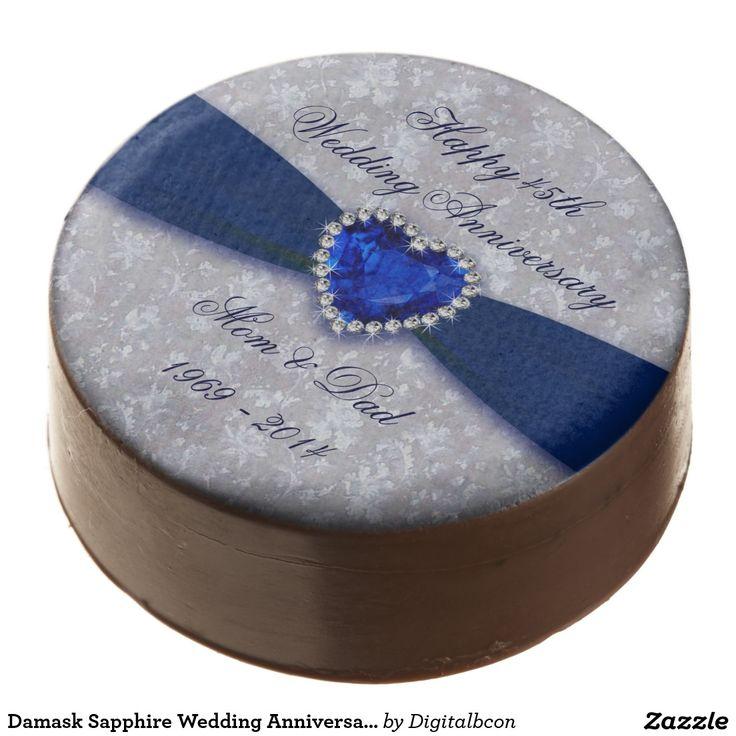 Damask Sapphire Wedding Anniversary Oreo Cookies Chocolate