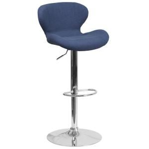 Flash Furniture Adjustable Height Black Cushioned Bar Stool - CH321BKFAB - The Home Depot