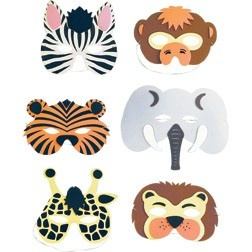 Jungle Party Decorations- masks