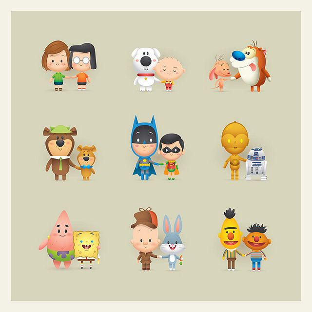 3 Cartoon Characters Always Together : Best images about cute cartoon on pinterest chibi