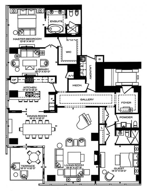 118 best floor plans mostly small houses and apartments for Apartment floor plans toronto