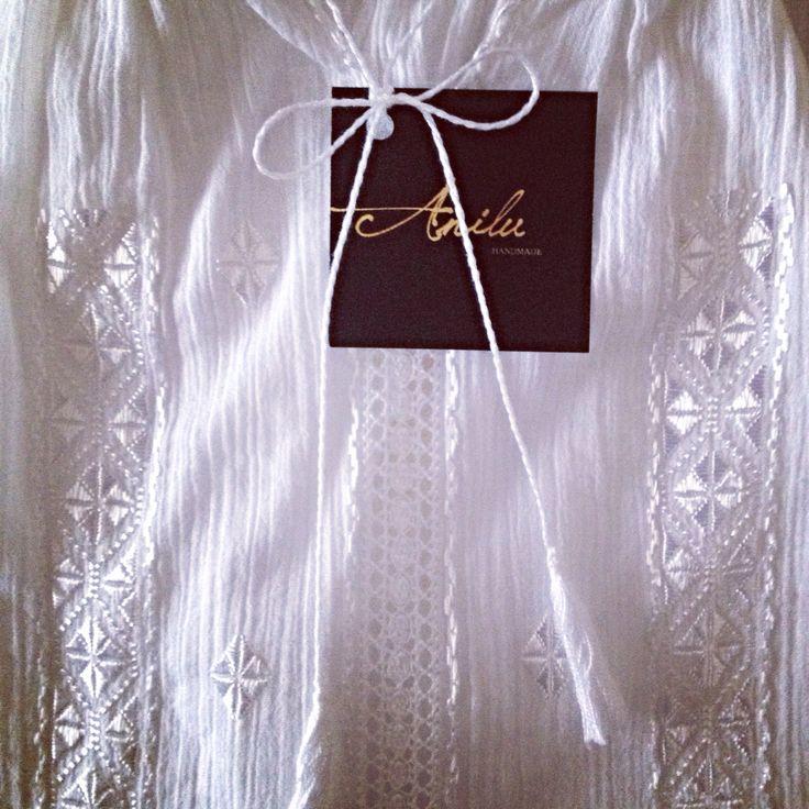 Beauty of the day! #white #silk #handmade #embroidery #ethnic #top #bohochic #fashion #woman #fw15 #byAnilu  www.anilu.ro/en