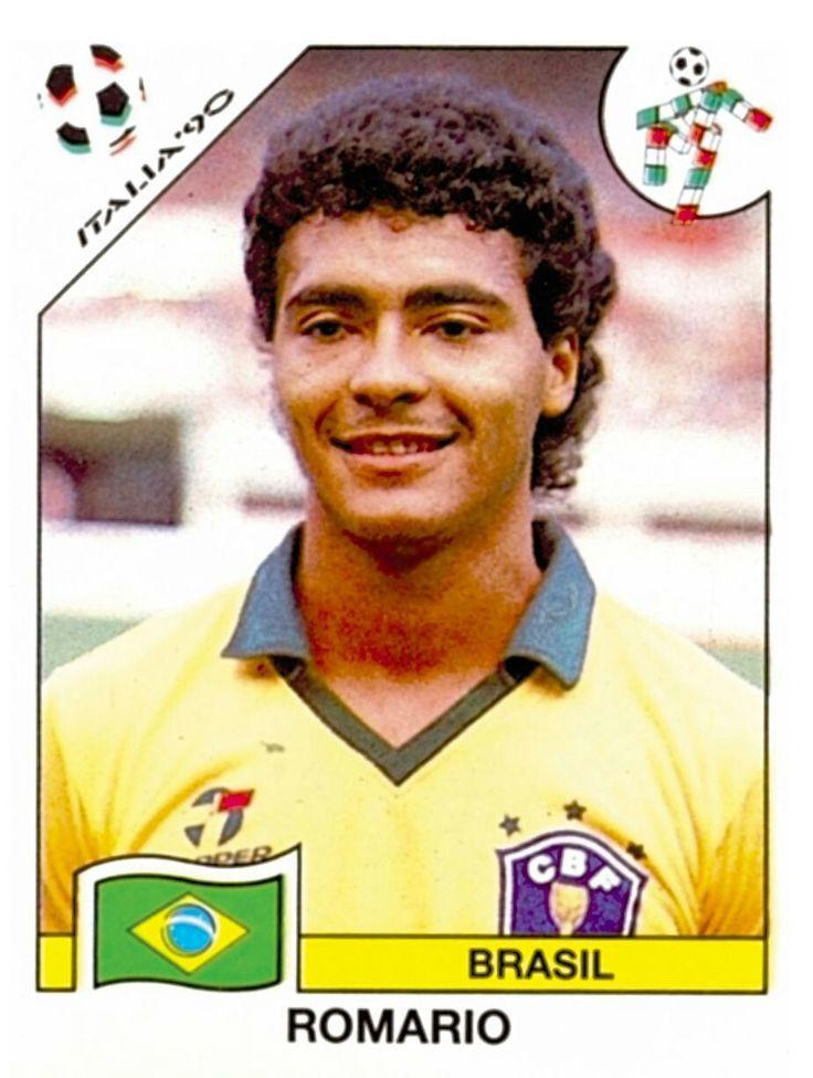 "208 Romario - Brasil - FIFA World Cup Italia 1990 | 001 Sticker Collection ""FIFA WORLD CUP ..."