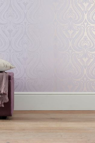 Buy Pearl Damask Mauve Wallpaper from the Next UK online shop