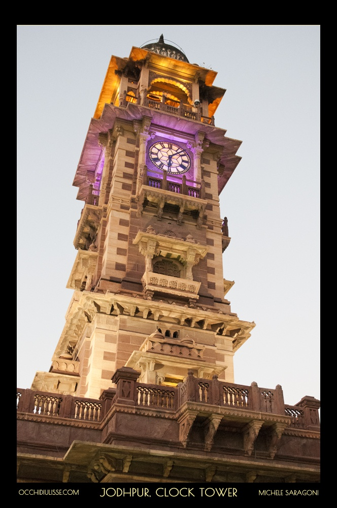 Time stopped in #Jodhpur.   #clocktower.