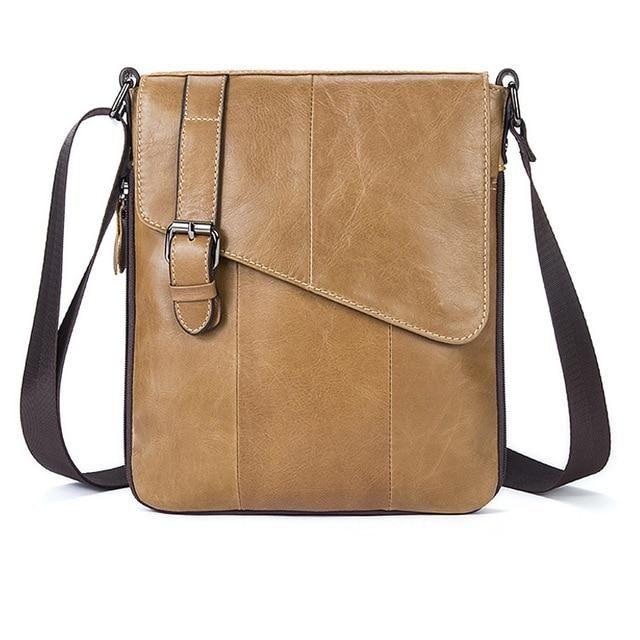 Men/'s Handbags Casual Leather Bag Vertical Briefcase Shoulder Messenger Bags