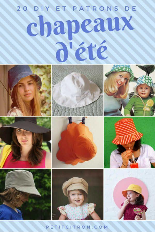 20 DIY et patrons de chapeaux d'été Equel modèle de chapeau préférez-vous?