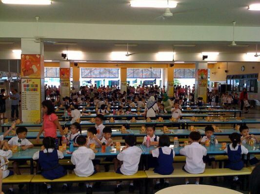 The school canteen