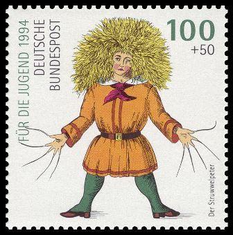 Struwwelpeter auf Briefmarke 1994