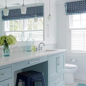 turquoise blue bath vanity cabinets with navy blue tolix
