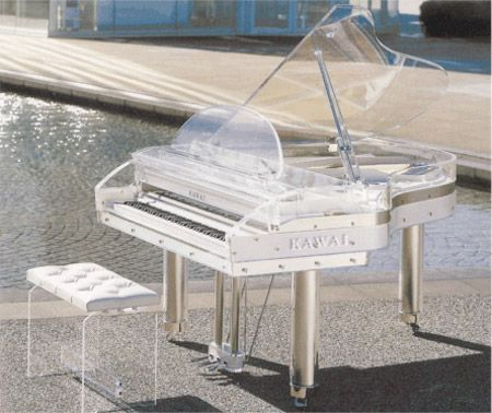 I want this clear piano in my home one day. No need for any furniture, just this guy.