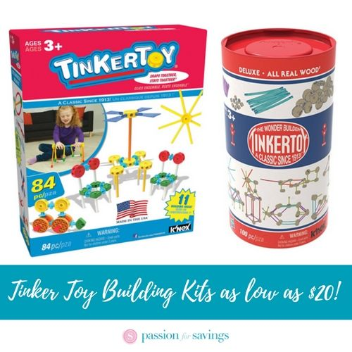 Tinker Toy Building Kits as low as $20!