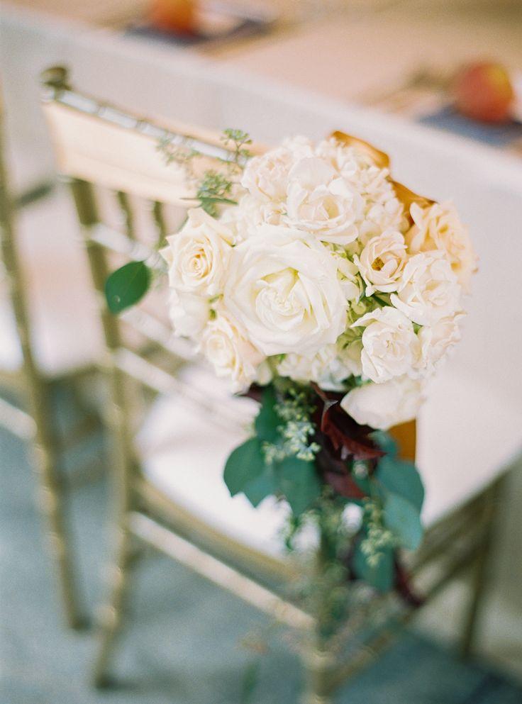 Wedding chairs (Floral Design: Amy Burke Designs) - Elegant Coastal Wedding at Half Moon Bay by A Savvy Event, Jill Hinchman Hartnett (Wedding Planner) + Jessica Burke (Photography)