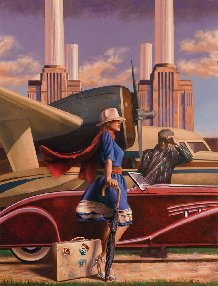 Start with Sunset • Peregrine Heathcote ..art deco style