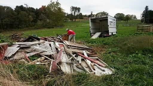 Torn down she'd removed in Frederick County MD.  #junk #removal #trash #hauling #trending #garbage
