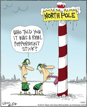 Who told you it was a real Peppermint stick? --- The Flying McCoys Comic Strip on GoComics