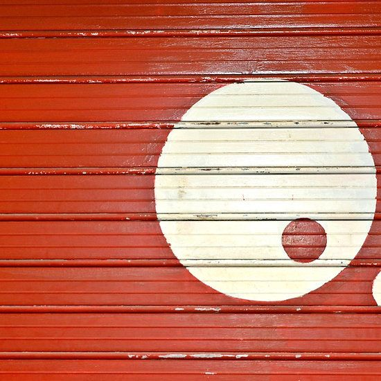 Yin Yang In Red And White