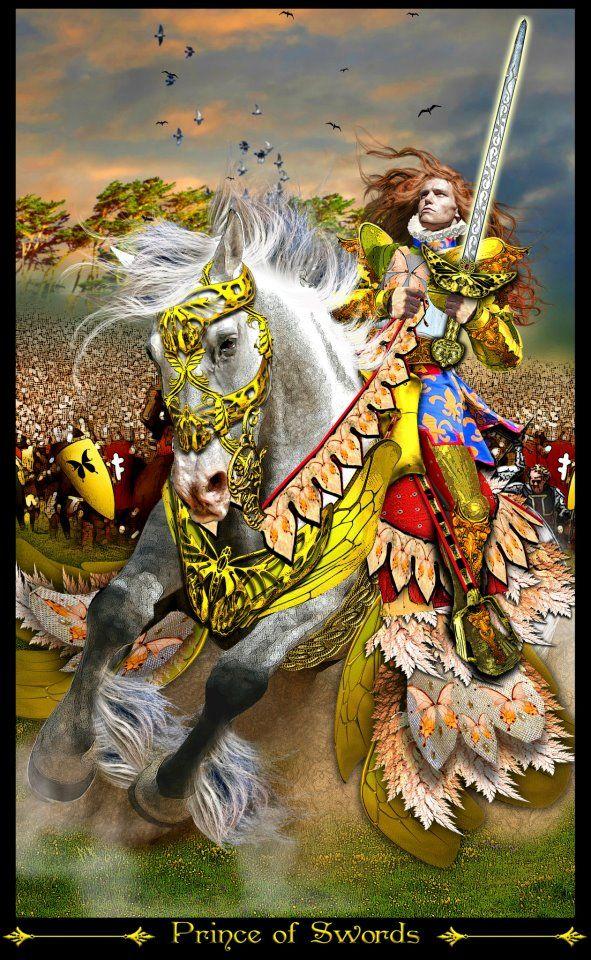 Tarot D The Didactic Tarot By Jeffrey M Donato: Cavalier D'épées - Tarot Illuminati Par Erik Dunne