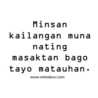 Love Quotes in Tagalog and Banat Patama Quotes for you