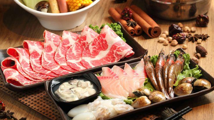 Japanese Cuisine Sashimi Sushi with Soy Sauce