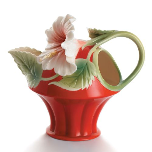 Good Franz Collection Porcelain Island Beauty Hibiscus Flower Creamer Amazing Pictures