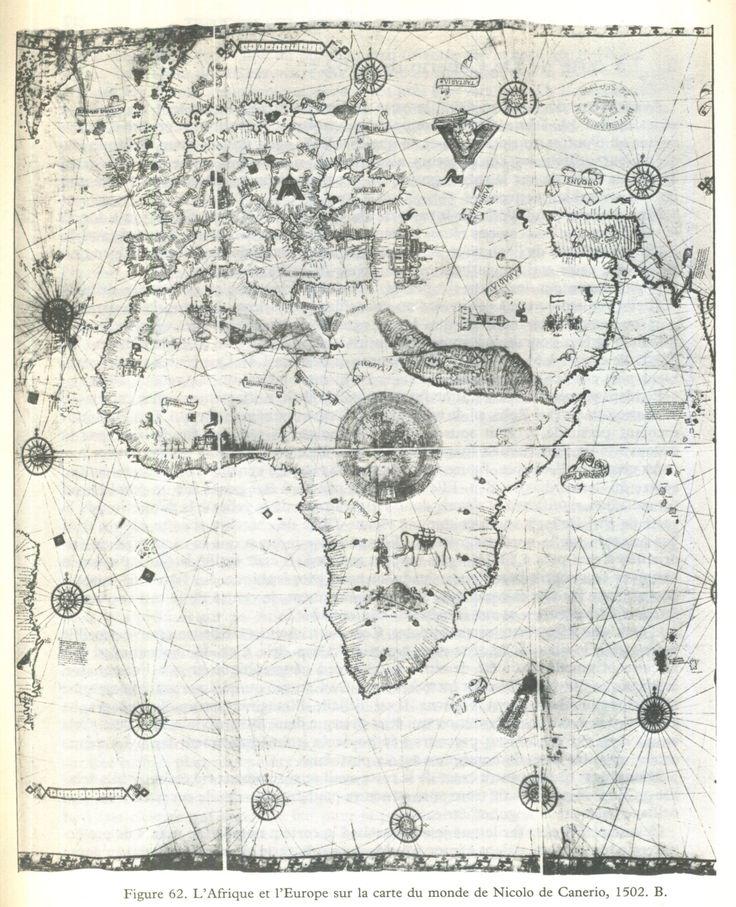 Nicolo de Canerio 1509 - in Cartes des anciens rois des mers, Hapgood, ed. du Rocher 1981
