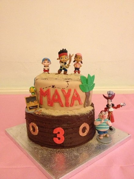 Pirate Themed Cake Decorations : 59 best Jake & Neverland Pirates Cakes images on Pinterest ...