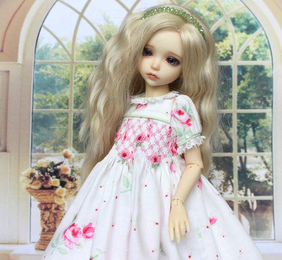 Smocking Dress for doll iplehouse KID. от AlenaTailorForDoll