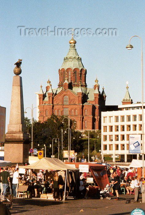 Helsinki market by the Orthodox Cathedral