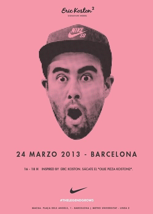 Eric Koston @Maggie Adams #skate #Barcelona #NikeSB #TheLegendGrows  http://www.kornerst.com/category.php?id_category=8000