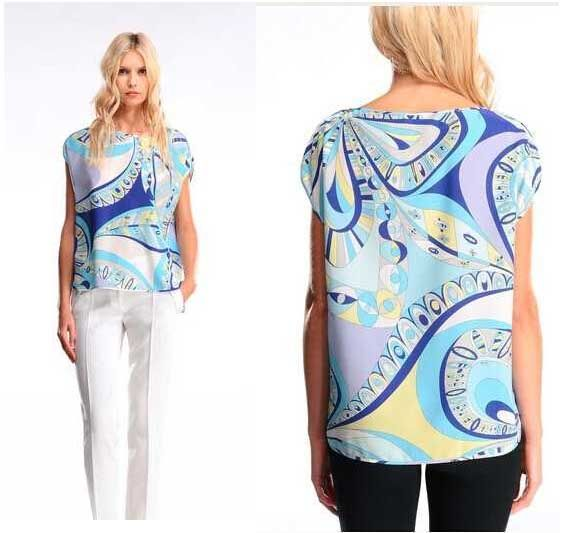 free shipping new arrival women's Italian fashion epucci tops stretch knit silk jersey top quality tops t-shirts  US $56.70 /piece   CLICK LINK TO BUY THE PRODUCT   http://goo.gl/oYWEYs