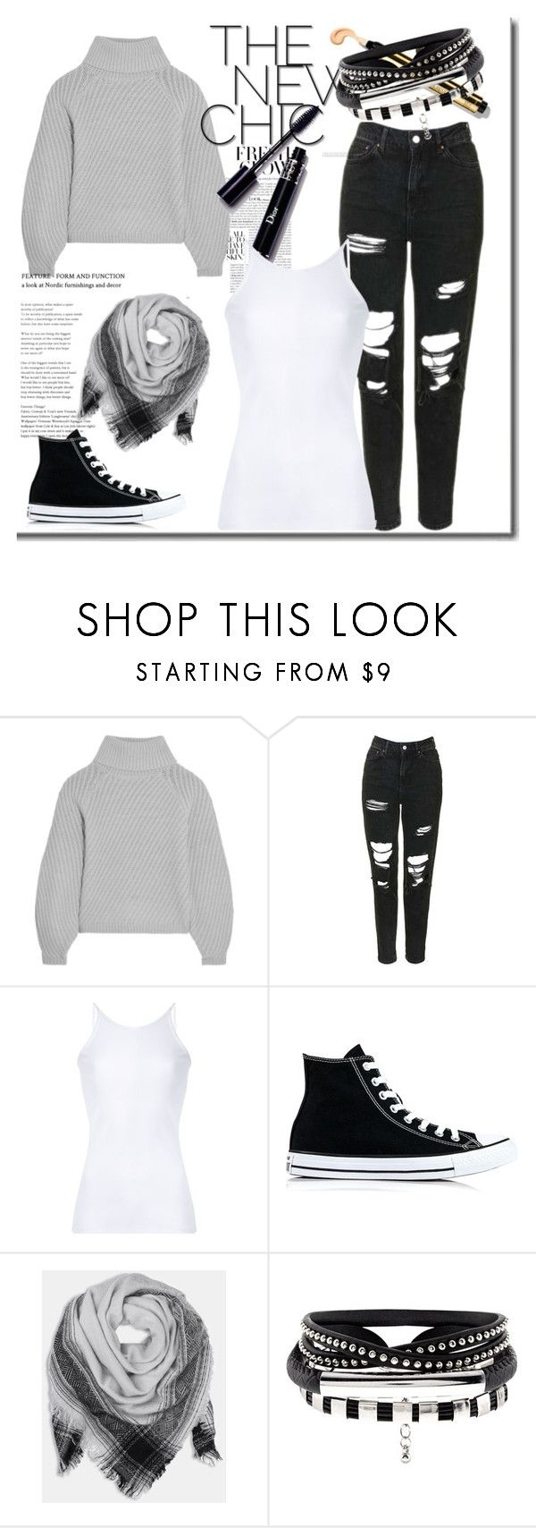 """""""Classy And Fabulous"""" by angelaxblackbear ❤ liked on Polyvore featuring Iris & Ink, Topshop, Christopher Esber, Converse and BeckSöndergaard"""