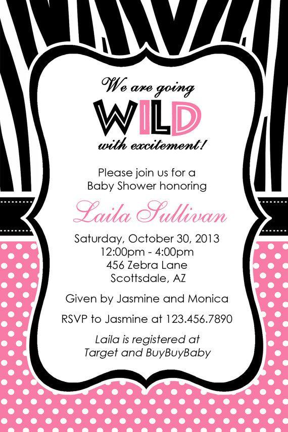 Printed Baby Invitations