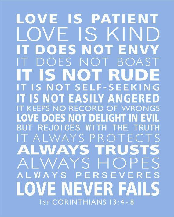 1st Corinthians 13 Love Is Patient Subway Style Scripture
