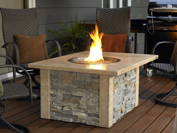 Table top rock fire pit table top fire pits pinterest for Ethanol outdoor fire pit