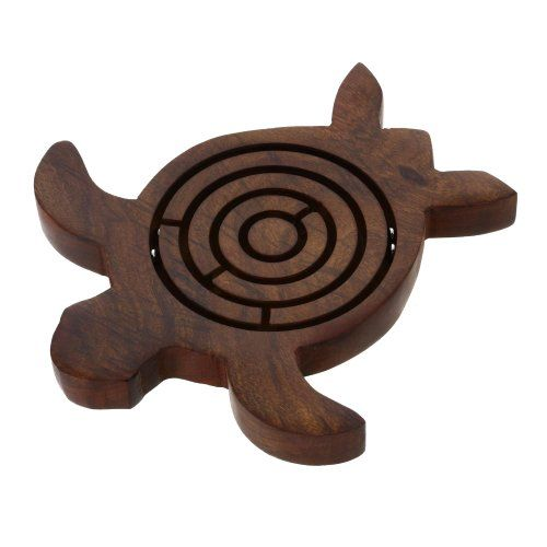 Handmade Wooden Turtle Labyrinth Maze Toy Great Gifts
