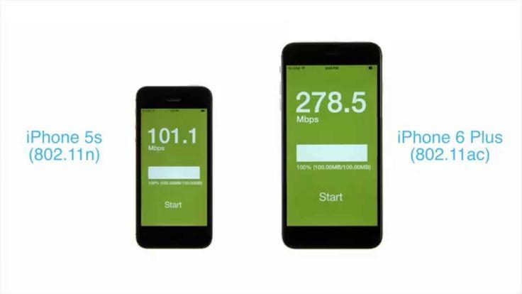 """WLAN Speedtest iPhone 6 Plus: So schnell ist das neue iPhone 6 WLAN AC!  - https://apfeleimer.de/2014/10/speedtest-iphone-6-plus-wlan-ac-schnell - Der Speedtest zwischen iPhone 6 Plus mit """"Gigabit"""" WLAN AC und iPhone 5s mit WLAN N spricht Bände. Das neue iPhone 6 und iPhone 6 Plus sind deutlich schneller im WLAN unterwegs wie das iPhone 5s. Der neue Funkstandard IEEE 802.11ac, umgangssprachlich """"Gigabit-WLAN"""" ..."""