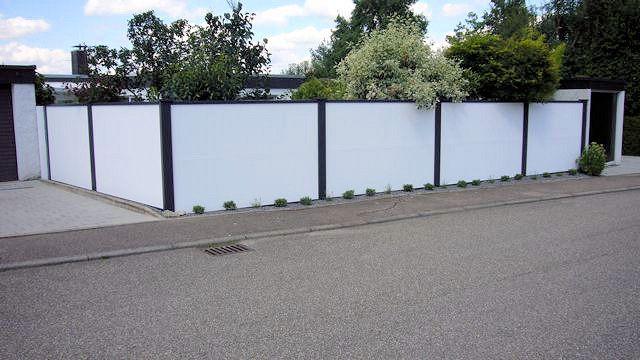 Sichtschutz und Lärmschutz für den Garten 1,8 m Wandhöhe