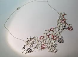 fabiana fusco gioielli - my secret thoughts  necklace  sterling silver, enamel