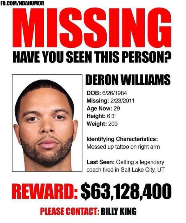 Brooklyn Nets Right Now...#DeronWilliams   Http://nbafunnymeme. Nba FunnyNba  MemesPoster ...  Funny Missing Person Poster