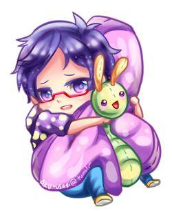 Free! ~~ Cuddling chibi series :: Rei