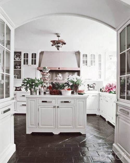 Kitchen Floor Tiles For White Cabinets: White Kitchen