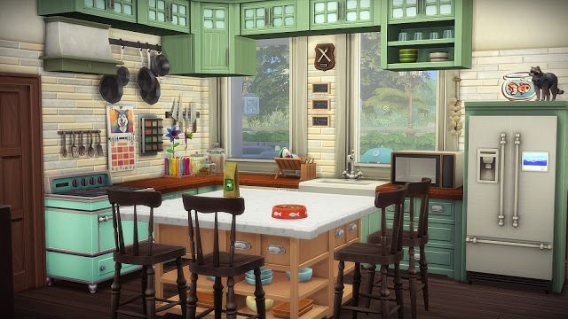 Lana CC Finds — Sims 4. Cats & Dogs House by Frau Engel Cottage no...