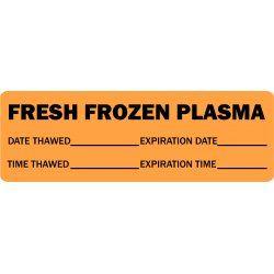 Fresh Frozen Plasma Medical Label Gold