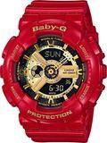 Casio Ladies Baby-G BA-110 Series Red & Gold Watch BA-110VLA-4A (BA110VLA4A) - Watch Centre