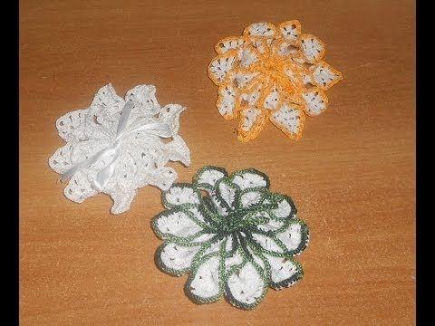 uncinetto croche  porta saponette parte 3  Crochet Soap Saver Ganchillo ...
