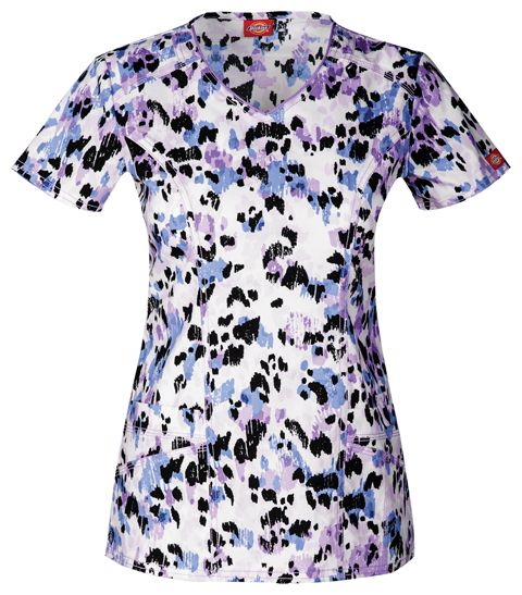 "This ""Purr-fectly Painted"" Dickies top is sophisticated and fun! Find it at The Uniform Outlet!"
